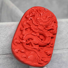 Best sale synthetic red cinnabar pendant carving Chinese dragon high grade fit for diy clothes necklace 40*56mm accessory B1549(China)