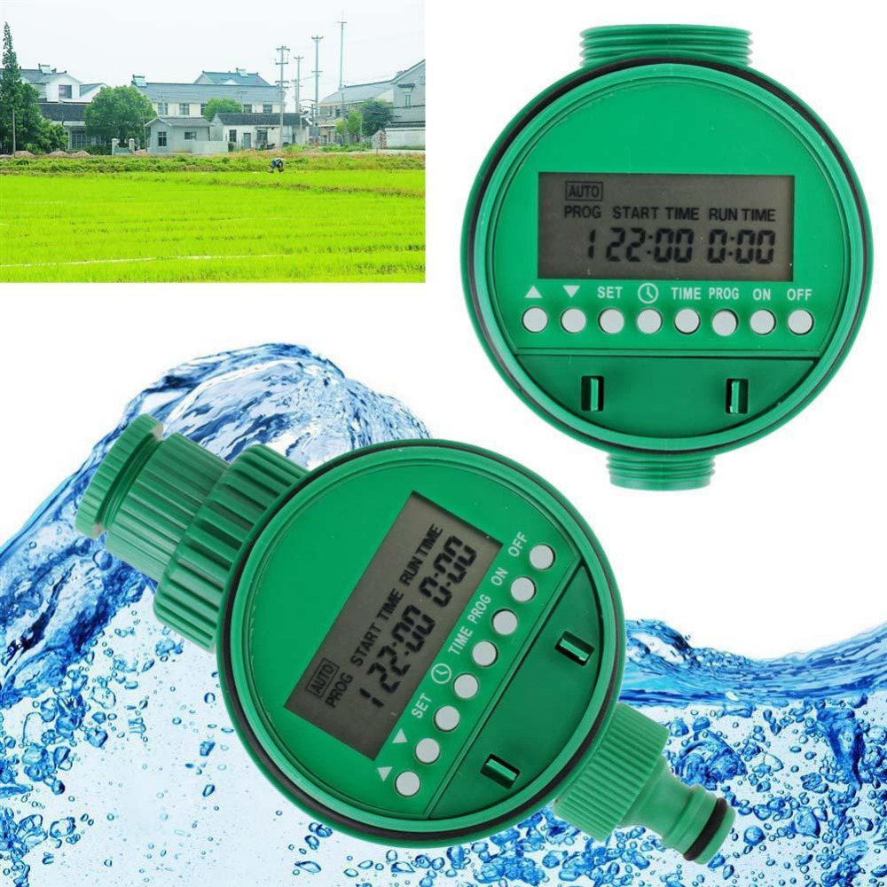 LCD Display Home Automatic Electronic Water Timer Garden Irrigation Controller Digital Intelligence Watering System Waterproof Garden Water Timers     - title=