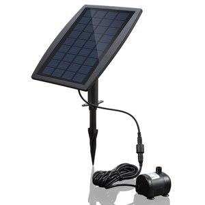 Image 1 - Güneş enerjisi paneli peyzaj havuzu bahçe çeşmeleri takılabilir güneş enerjisi dekoratif çeşme 9V 2.5W su pompası