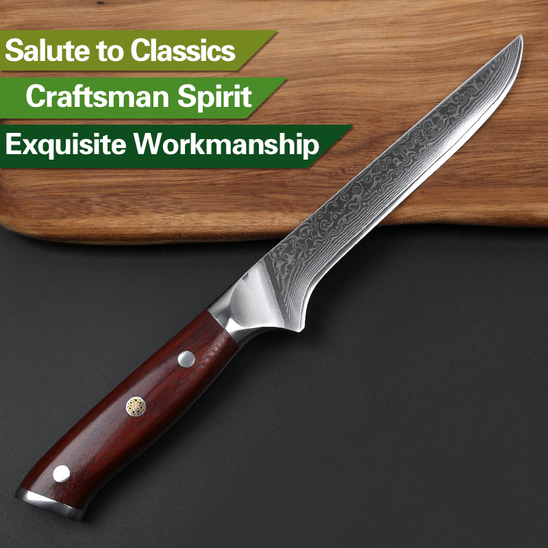 xinzuo 6 fish boning knife japanese damascus steel kitchen knife best gift razor sharp blade. Black Bedroom Furniture Sets. Home Design Ideas