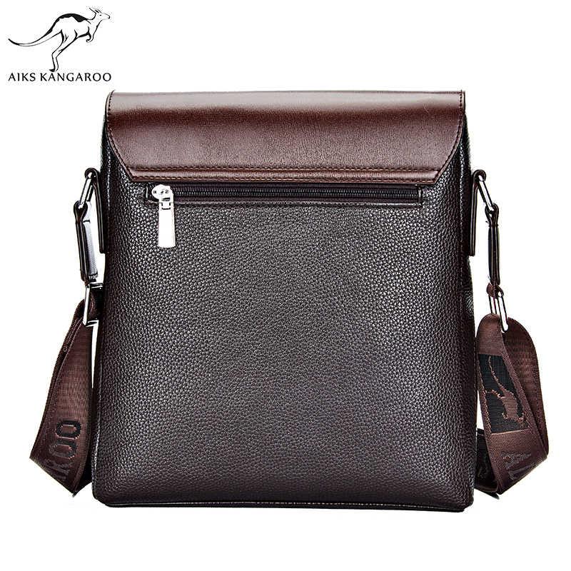 Aiks カンガルー高品質クロスボディショルダーバッグバッグファッションビジネスの男性のメッセンジャーバッグのデザイナーのヴィンテージ男性財布とハンドバッグ