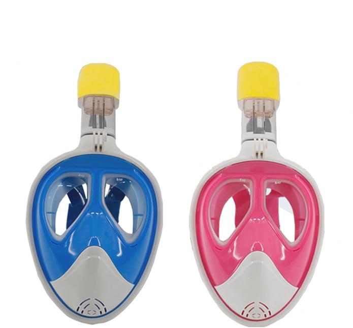 Livraison gratuite! masque de plongée myope avec support de caméra gopro masque de plongée en apnée pour adulte myope (rose/bleu)