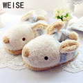 2017 New Plush Warm Women Slippers Cute Rabbit  Waterproof House Shoes Women Lovely Indoor Plush Winter Home Slippers Free Size