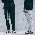 Nueva Moda Kanye West Pantalones Joggers pantalones de Chándal de Los Hombres Encuadre de cuerpo entero de Los Hombres HIPHOP Pantalones joggers Tallas grandes Pantalones Deportivos