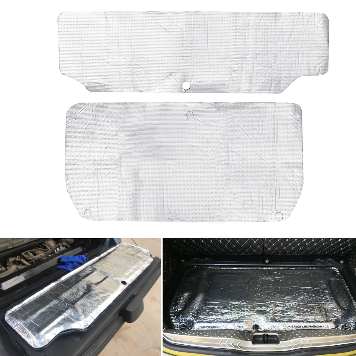 Car Glass Fibre Sound Insulation Proofing Deadening Closed Cell Foam Firewall Heat Mat Aluminum For Smart 451 453 Hood Engine