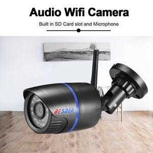 Image 2 - Besder áudio 1080p câmera de segurança cctv ip sem fio preto waterptoof onvif câmera de vigilância com slot para cartão sd icsee p2p ipc