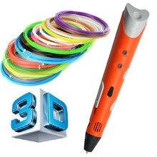 Последним 1.75 мм ABS/PLA DIY Smart 3D Печать Ручка 3D Ручка Чайник + 10 М Нити + Адаптер Творческий подарок Для Детей Рисунок Живопись