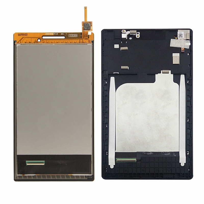 For Lenovo Tab 2 A7-10 A7-10F A7-20 A7-20 Touch Screen Digitizer Sensor Glass + LCD Display Panel Monitor Assembly with Frame kodaraeeo for lenovo tab a7 a7 50 a3500 lcd display with touch screen digitizer assembly parts free tools