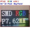 Tamanho grande painel rgb p7 488 mm * 244 mm, 64 * 32 pixel, 4 em 1 kits de plástico, Simples instalar, 1/16 scanner, 7.62 mm de altura painel claro