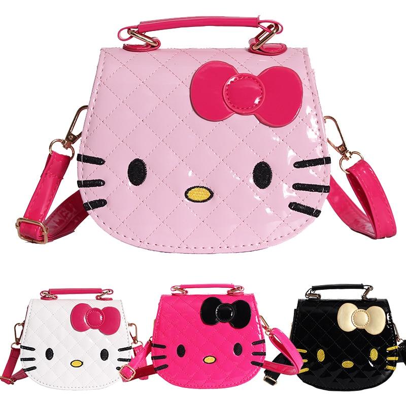 New Cute Mini font b Bag b font Children Hello Kitty Handbag For Women Cartoon Cat
