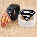 Superman 2016 Designers da Marca de Couro Genuíno Pin Fivela Cintos de Couro de Luxo para Homens de Alta Qualidade Mulheres Cowskin Ceinture Homme