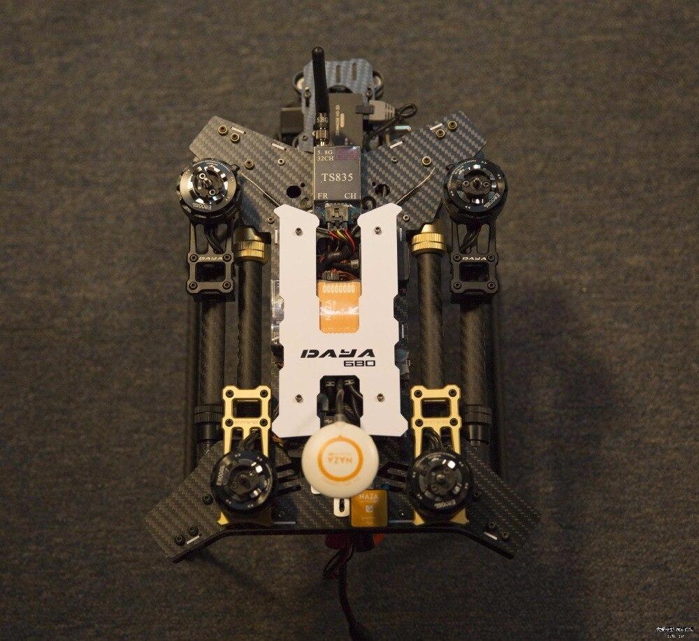 680 Daya 680 daya-680 pliant 4 axes en Fiber de carbone aéronef sans pilote (UAV) H4 quadrirotor cadre avec train d'atterrissage pour FPV RC Multicopter Drone cadre Kit