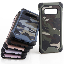 Camouflage Camo Back Cover For Samsung Note 8 Note 5 Note4 Note3 Shockproof Armor Case For Samsung S8 Plus S7 S6 Edge S5 S4 Case ats868 stylish shiny crystal inlaid abs electroplated metal back case for samsung s4 pink