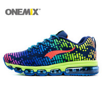 Onemix Brand Men S Running Shoes Sports Athletic Sneaker Air Cushion Hot Elastic Knit Upper Beathable