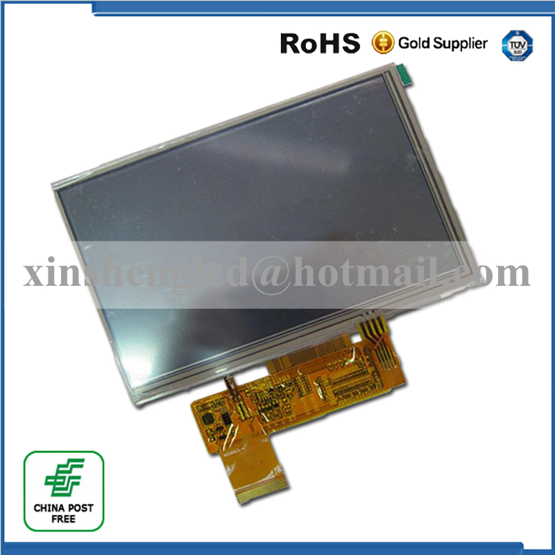 New 5 Inch 40 pin KD50G21-40NT-A1 HSD050IDW1-A20-A For Navi N50 HD Car Navigators LCD Display Screen Module Panel Repartment