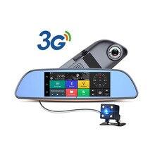 Camlive 3G Tipo Android 5.0 Bluetooth transmisor FM de Navegación GPS de Doble Lente Dvr Coche Espejo Retrovisor Con Cámara + FHD1080P cámara