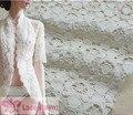 2 м/лот diy хлопок вышивка кружевной ткани белая точка ткань