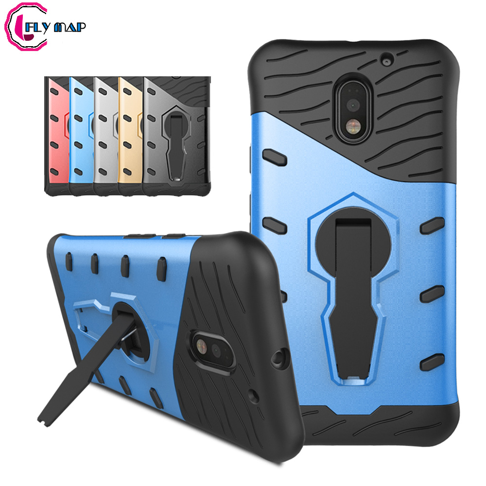 Rotating Case For Motorola Moto E3 3rd Gen XT1700 Mobile Phone Case Hard Heavy Duty Plastic+ Silicone TPU For Moto E 3 Coque