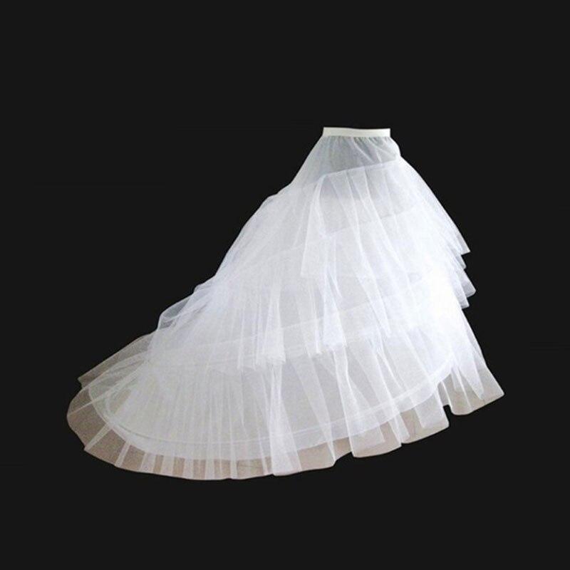 20f604fe 2 Crinoline 3 capas de hilo blanco enaguas para Vestido de novia de cola  larga Vestido de novia de Noiva Crinoline Rockabilly accesorios de enaguas