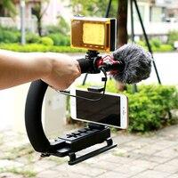 Ulanzi Ulanzi U-Grip Video Stabilizer Video Griff Grip mit 96 LED-licht und BY-MM1 für Kamera Camcorder Dslr Video