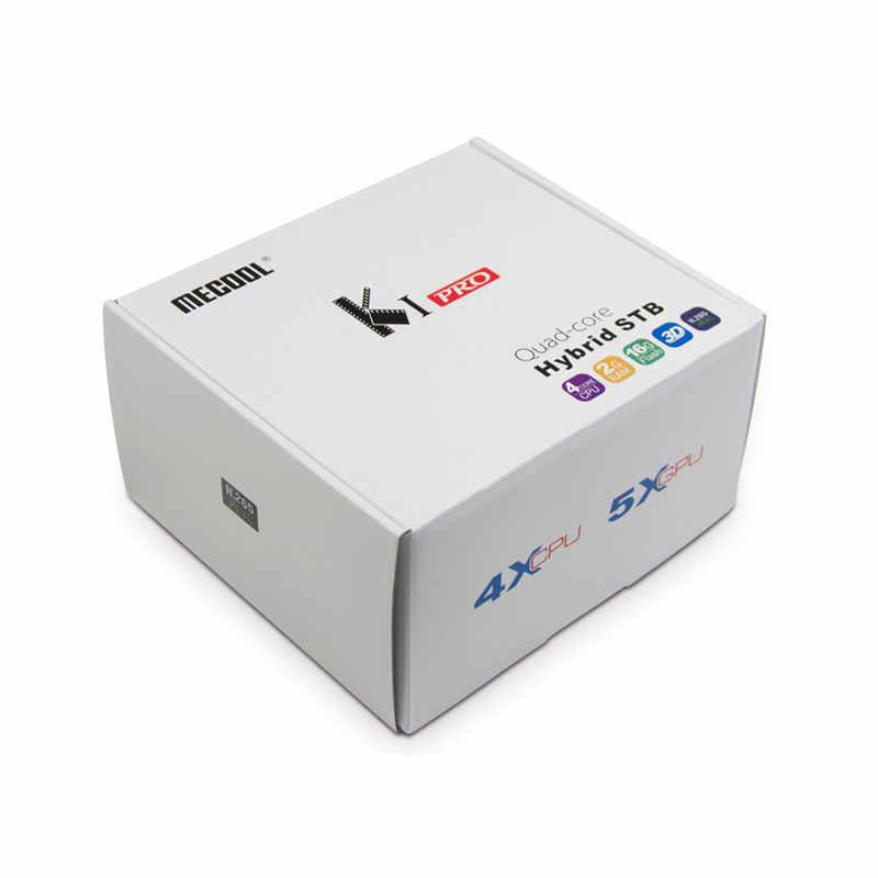Бесплатная доставка Европейский русский IP ТВ Android ТВ коробка KI PRO DVB-S2/T2/C COMBO 2 GB/16 GB Встроенная память H.265 4 K/2 K HDMI2.0 2,4G/5,0G WiFi декодер каналов кабельного телевидения компьютерной приставки к телевизору