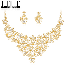 2018 Ethiopian Jewelry Earrings and Necklace Rhinestone African Costume Sets Fashion Womens Indian