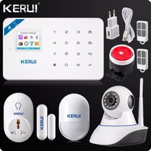 2017 KERUI W18 WIFI GSM SMS Home Burglar Security Alarm System Russian English Voice Wifi IP Camera 720P+Smart Socket