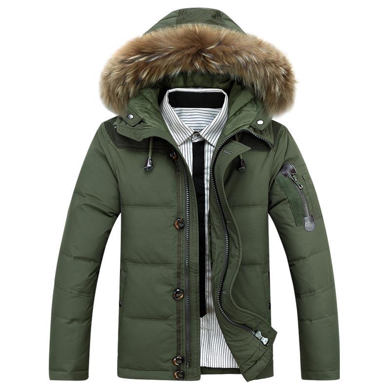 Men down jacket 2019 new arrival thicken warm winter jacket men hooded casual slim zipper   parka   men winter coat plus size