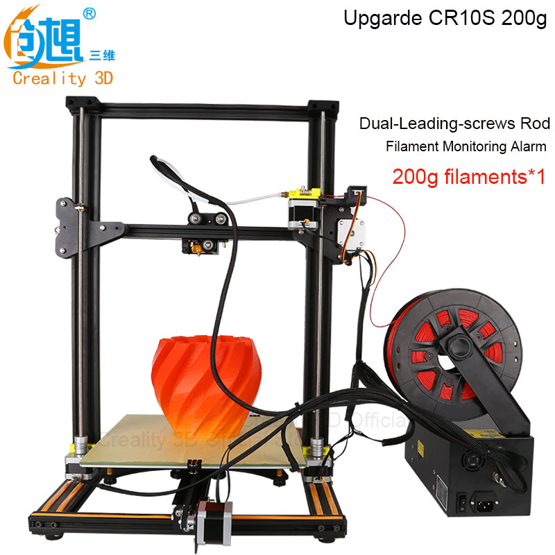CREALITY 3D Printer CR-10 Linear Version Metal 3D Printer Kit Large Print Size 300*300*400mm With Hotbed Filaments and Power 2017 easy build 3d printer cr 10 large print size 500 500 500mm with filaments hotbed sd card tools as a gift creality 3d