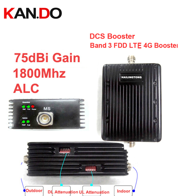 Attenuation Switch Function 75dbi ALC Function DCS + FDD LTE 4G Repeater,1800Mhz Booster 1800Mhz Repeater 30dbm Dcs 4G Booster