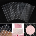 4 шт./компл. прозрачный пластиковый коврик в клетку с текстурой, форма для шоколадной печати, латексные инструменты для украшения, трафаретн...
