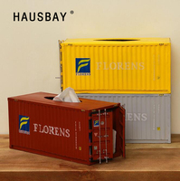 Retro Creative Container Design Iron Tissue Box Home Car Napkin Paper Container Metal Paper Towel Napkin Case Home Decor 04238