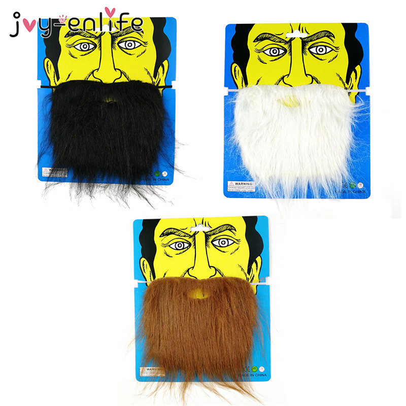 Free Shipping Fake Facial Hair Beard Mustache Moustache Facial Hair Costume Fancy Dress Party We Take Customers As Our Gods Tool Parts
