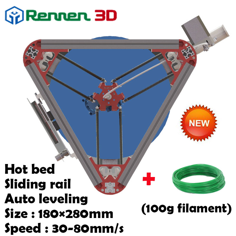 3 D Cheap Delta 3D Printer V Auto Level Kossel  mini Reprap Prusa Rostock 3D-Printer Machine Kit With Hot Bed Injection 3 d printer accessory part rostock kossel mini 3d printer traxxas 1 10 e revo summit 5347 arms makes parallel arm free shipping