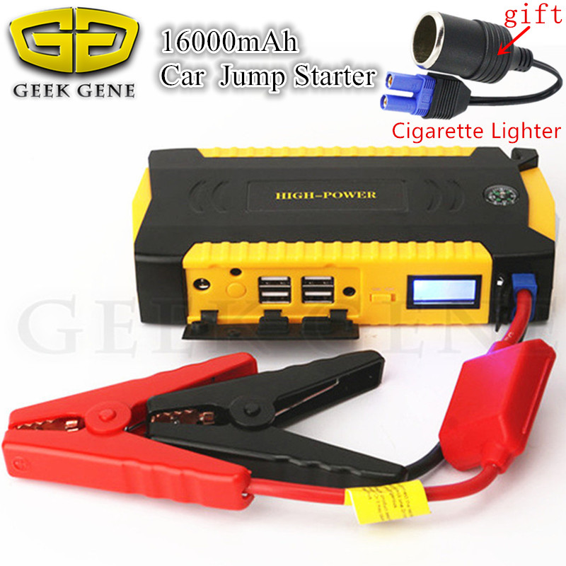 Emergency Starting Device 16000mAh Car Jump Starter Power Bank 12V 600A Car Charger For Car Battery Diesel Petrol Car Starter CE 13500mah 12v multi function mobile power bank tablets notebook phone ca r auto eps starter emergency start power