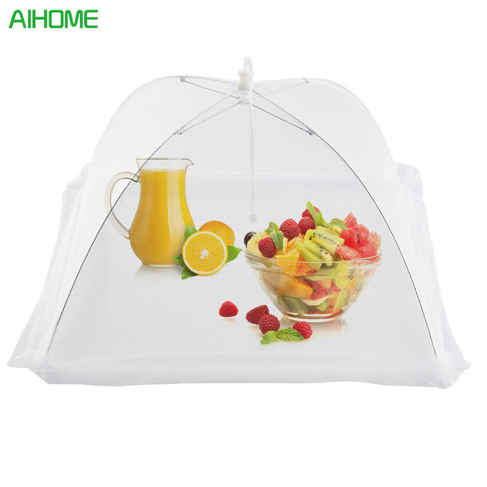 4pcs Large Pop-Up Mesh Screen Food Cover Tent Umbrella Reusable And Collapsible Outdoor Picnic Food Covers Mesh Food Cover Net