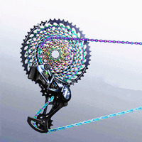 NGT 10 Speed Chain 116 Knots Mountain Road Bicycle MTB Bike Chains 30 Speed Chain Rainbow Color Fast Shipping