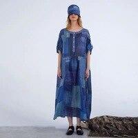 2019 сезон: весна лето новая коллекция оригинальный дизайн рами рубашка с короткими рукавами oversize длинное женское платье