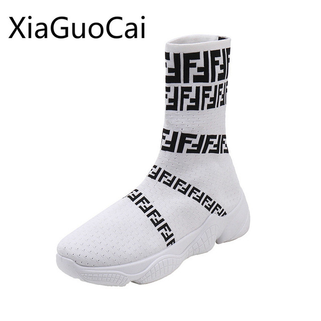 Hip Hop Women's Socks Boots Street Shoot Rome Female Casual Winter Boots Casual Shoes Winter High-elastic Boots