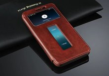 Case for Lenovo A806  Flip Leather Cover With Window View  for Lenovo A8 A808T