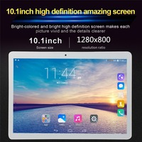 10.1' Tablet 3G Phone Call Android 6.0 Wi Fi Bluetooth 4GB/32GB Octa Core Dual SIM WPS GPS PC tablette enfant fnf tablet phone