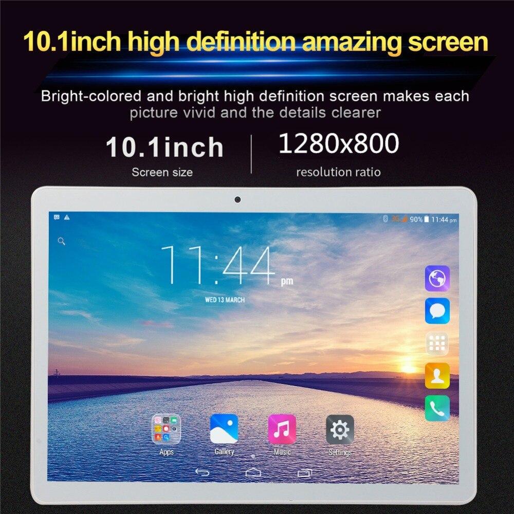 10.1 'tablette 3G appel téléphonique Android 6.0 Wi-Fi Bluetooth 4 GB/32 GB Octa Core double SIM WPS GPS PC tablette enfant fnf tablette téléphone