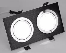 Hot sale black Shell Led Cob Dimmable Downlights Single or double face 10W/2x10W warm white cold white AC 90-260V CE&ROHS hot sale up and down 40w cob led downlight ac110v 240v cold white warm white ce