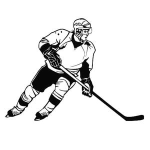 Black white 13cm*9.cm Ice Hockey Sports Car Styling Fashion Car Window Stickers