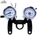 Universal Odometer Speedometer Tachometer 13000 RPM LED Back Lights Mechanical Motorbike Gauge Meter with Bracket