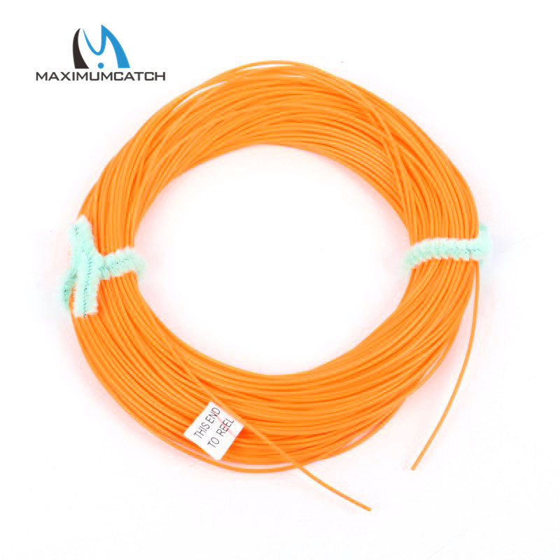 Newly come fly fishing line orange color 100ft for Colored fishing line