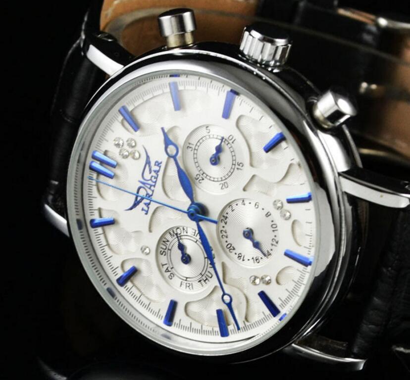 Jaragar Blue Sky Series Elegant Design Genuine Leather Strap Male Wrist Watch Mens Watches Men Automatic Clock blue sky чаша северный олень