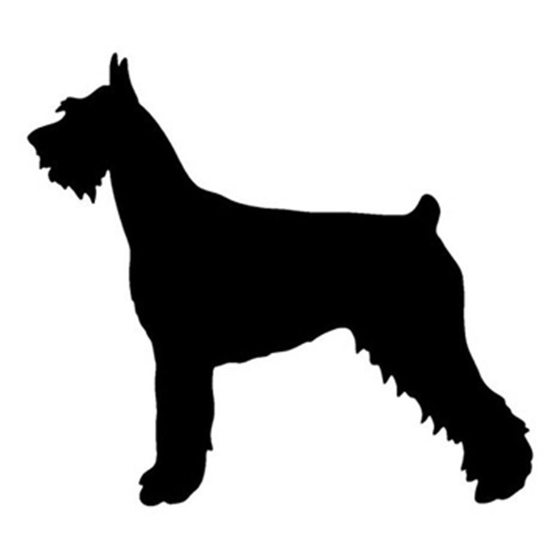 14.2*12.7CM Giant Schnauzer Dog Vinyl Decal Personality Car Stickers Car Styling Bumper Accessories Black/Silver S1-1165