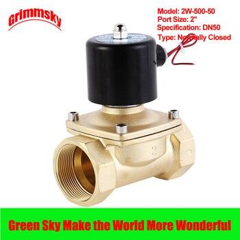 цена на DC12V/24V/AC110V/220V 2 way 2 position 2'' port air diesel gas low viscosity fluids normally closed solenoid valve for water