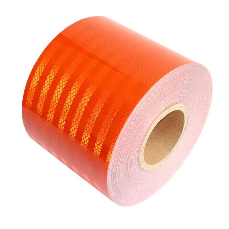 Купить с кэшбэком 15cmx5m  High quality reflective orange belt Auto super grade reflective sticker orange reflective warning tape